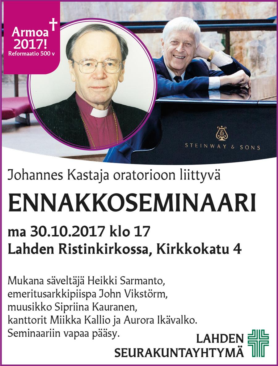 Johannes Kastaja Oratorio seminaari Lahti 30.10.2017