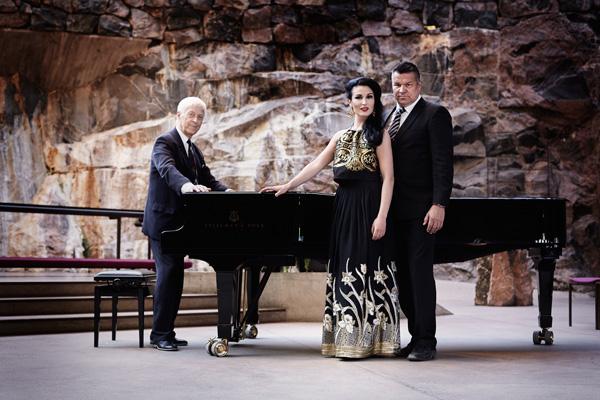 John the Baptist oratorio Heikki Sarmanto, Maria Lund ja Jarmo Mäkinen. Kuva: Olga Poppius